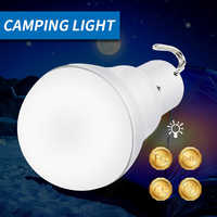 15W LED Solar Lamp Outdoor Garden Light USB Rechargeable Light Bulb Emergency Lighting Solar Power 5-8V No Flicker More Bright