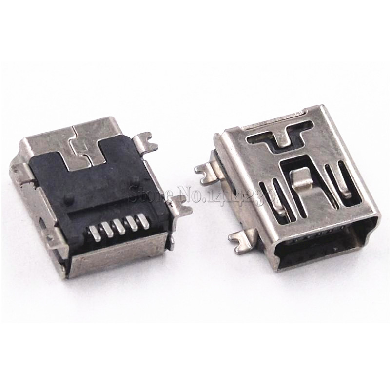 10PCS Mini USB SMD 5 Pin Female Mini B Socket Connector Plug интегральная микросхема 20 smd b rb520s 30 200mw 30v smd