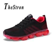 лучшая цена Man Mesh Running Shoes Black Blue Sport Shoes Air Men Spring Autumn Jogging Male Sneakers Anti-Slip Mens Trainers Shoes