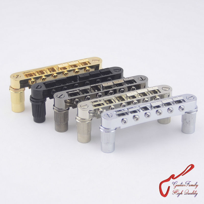 1 Set GuitarFamily Open Base Longer Saddle Screws Tune-O-Matic Electric Guitar  Bridge ( #1272 ) MADE IN KOREA