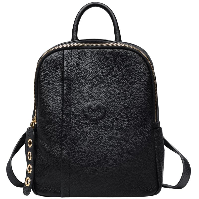 Chaud Véritable sac à dos En Cuir voyage De Luxe marque sacs à dos fille sacs d'école pour femmes grande capacité mochilas mujer 2018-BC103