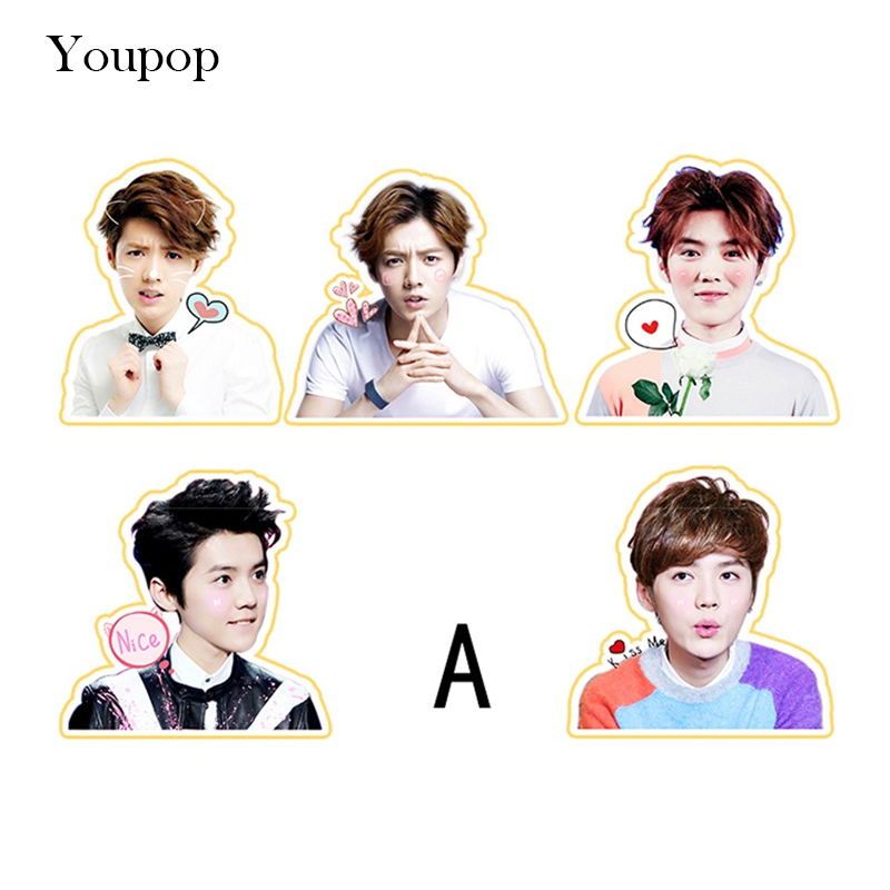 Youpop KPOP EXO LUHAN Reloaded I Album PVC Stickers For Luggage Cup Notebook Laptop Car Fridge DIY TZ025 In Jewelry Findings Components From