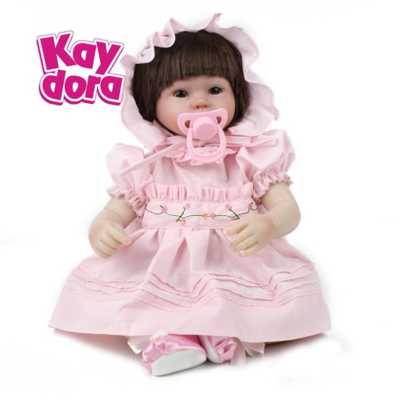 KAYDORA 22 pouces 55 cm Reborn bébé poupée réaliste silicone lol fille doux vinyle offre spéciale promotion poupées bébé boneca menina