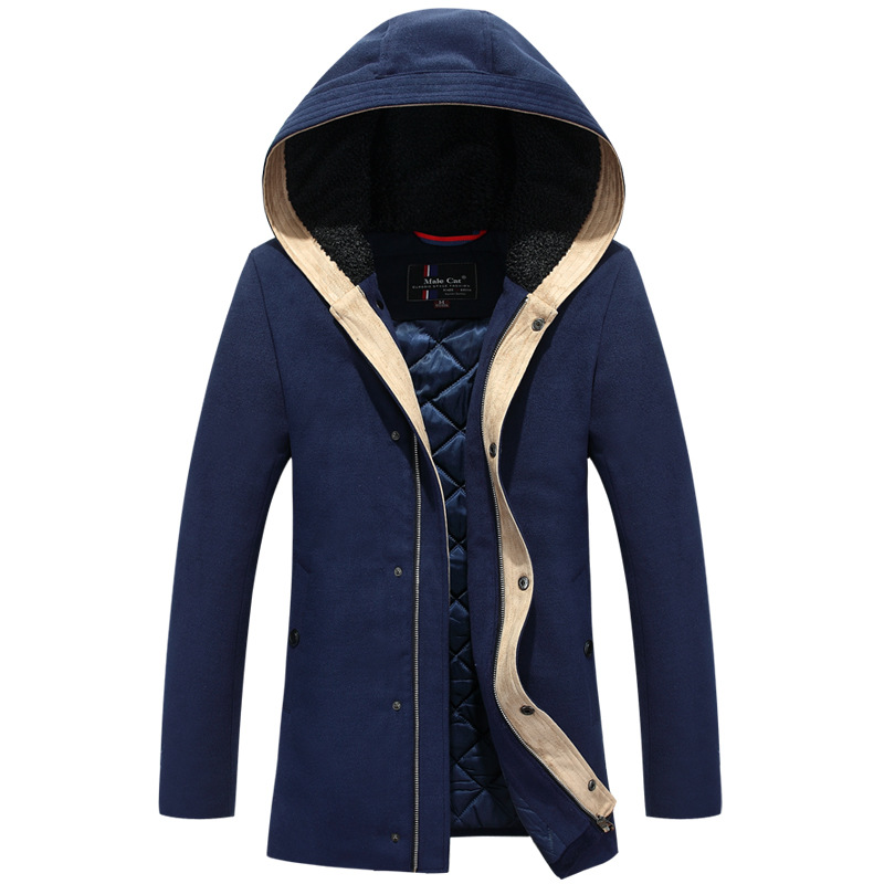 Hot sale Fashion winter Coats Men s White Duck Down Jacket With Hood Thick Warm Coat