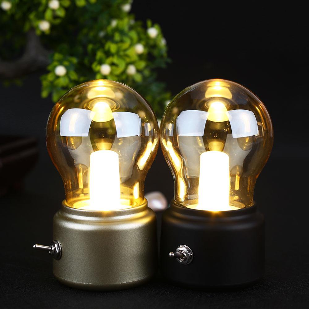 2018 Nouvelle Année Led ampoule Classique de soufflage bureau lampe décoration lumière Rétro USB Rechargeable Nuit Lumière Bureau Table LED Lampe
