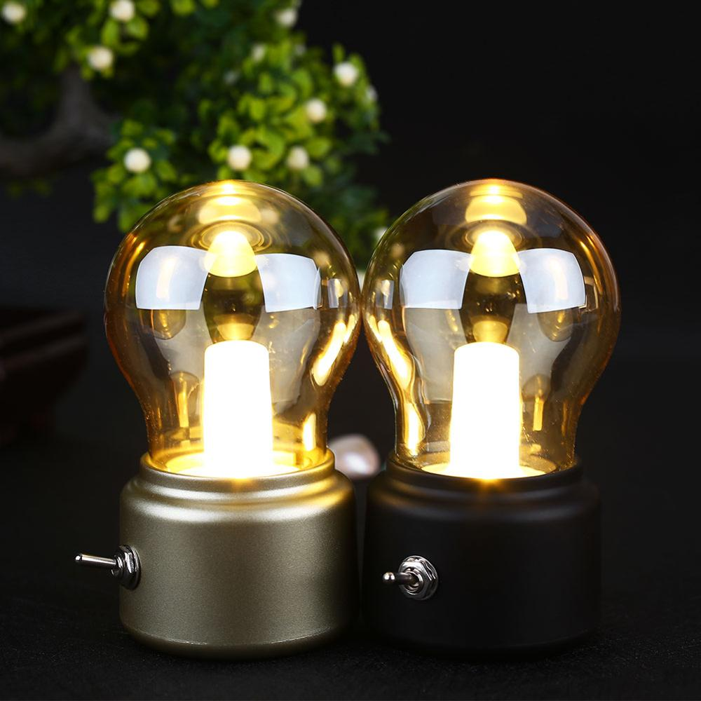 2020 New Year Led Bulb Classical Blowing Desk Lamp Decoration Light Retro USB Rechargeable Night Light Desk Table LED Lamp