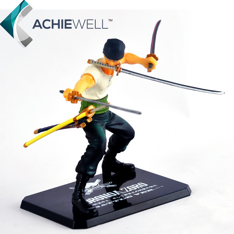 New <font><b>Anime</b></font> <font><b>One</b></font> <font><b>Piece</b></font> Roronoa Zoro 3 Swords Battle Version <font><b>Action</b></font> <font><b>Figure</b></font> Figuarts Zero 12cm Model <font><b>Japan</b></font> <font><b>Cartoon</b></font> <font><b>Doll</b></font> Toys Gift
