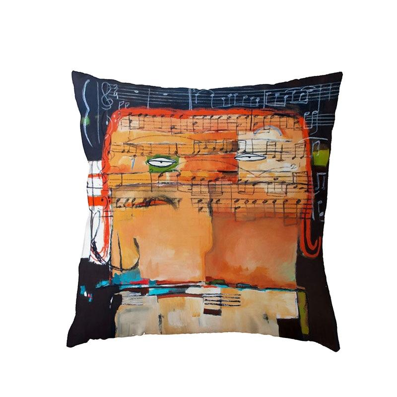 Personalized Graffiti Art Bike Cartoon Character Stripe Home Sofa Children Room Decor Gift Polyester Peach Skin Pillow Cases