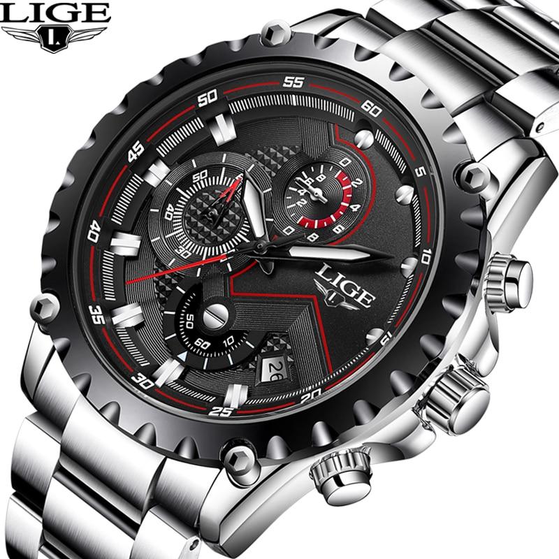 Men's Watch LIGE Top Brands Luxury Sports