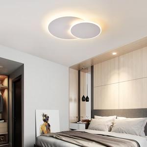 Image 2 - Girevole Ultra sottile Moderno Soffitto A LED Luci Per corridoio Camera Da Letto corridoio Marrone/Bianco lampade A Soffitto Lampada lamparas de techo