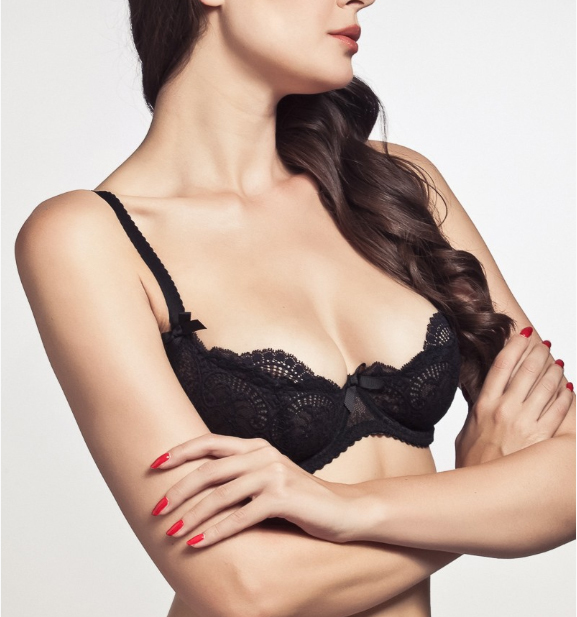 Pretty Mary Women Embroidery Half Cup Bra and Panties Sets Lace Sexy Lingerie SeeThough Underwear Plus Size Thin Plunge Bra