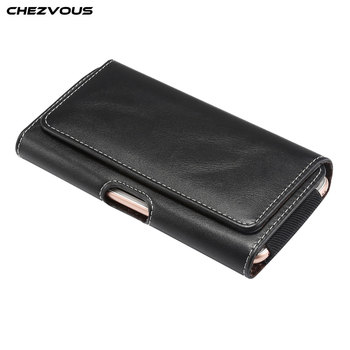 CHEZVOUS 4.7/5.2/5.5/6.0/6.3/6.4 inch Belt Clip Holster Leather Pouch Case for iPhone X XS MAX XR 8 7 6 plus 6s Cover Phone Bag