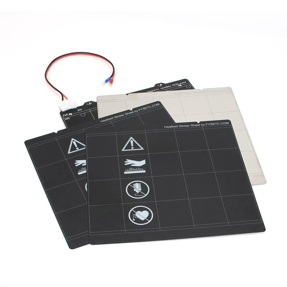 de aço + 2 peças preto adesivo para prusa i3 mk3