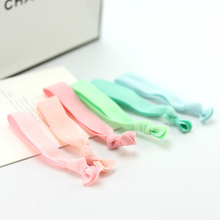 6pcs high quality solid Candy Color Ponytail Holders twist Ribbon Elastic Bands/ Hair Ties Hair Accessories Mixed on sale