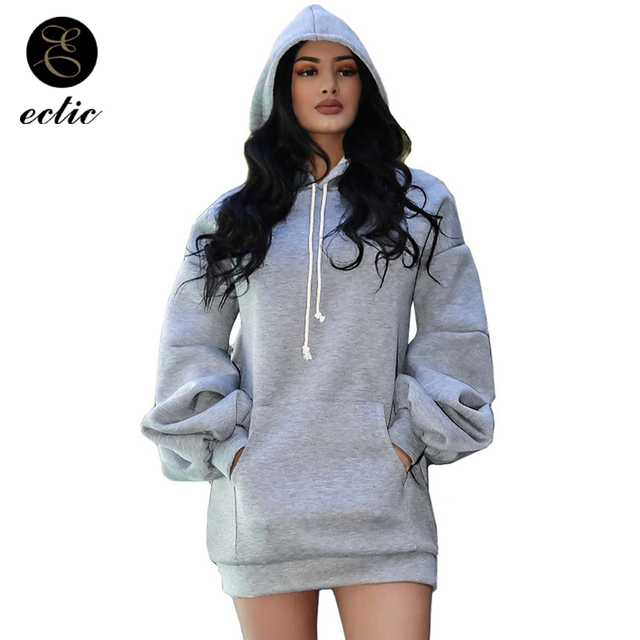 ECTIC Winter Pullover Sweatshirts Womens Warm Poleron Mujer 2018 Rave Long Sleeve