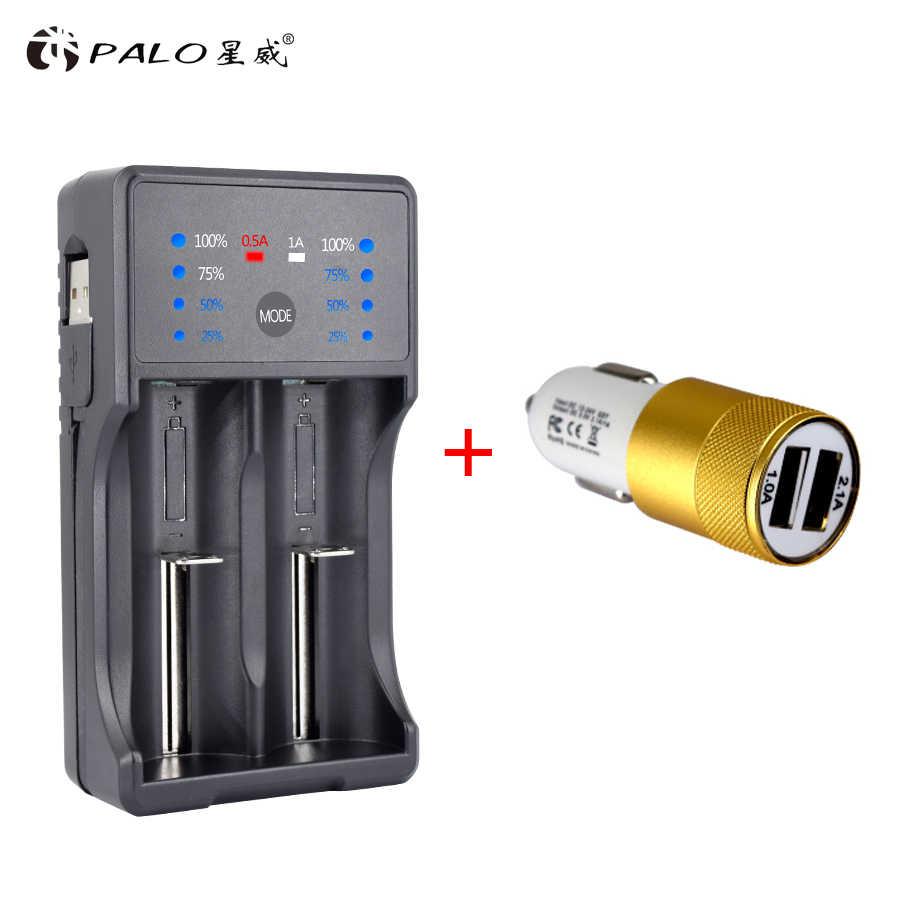 PALO USB светодиодный дисплей Смарт Батарея Зарядное устройство для 1,2 никель-металл-гидридный аккумулятор с напряжением никель-кадмиевый аккумулятор, AA, AAA, SC 3,7 в 18650 14500 18500 литий-ионный аккумулятор Перезаряжаемые батареи