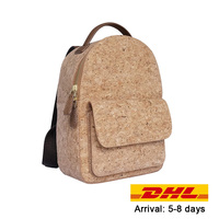 KAOGE Vegan Natural cork Vintage Backpack Luxury Fashion Women Stylish Wood Bag