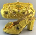 New Fashion Italian Shoes And Bag Set Italy Ladies Open Toe Heels African Shoes And Bag Set  For Party Purple Color ME3311