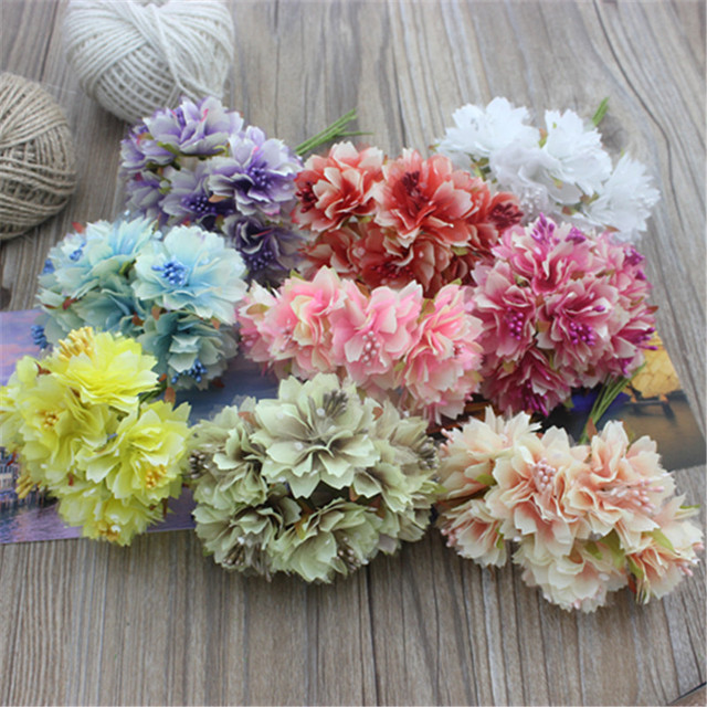 Freies verschiffen 3,5 cm (6 teile/los) kopf weiße Blume Bouquet ...
