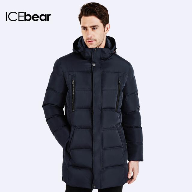 Men's Bio Down Jacket  Waterproof  Casual Outerwear Long Coat Parka