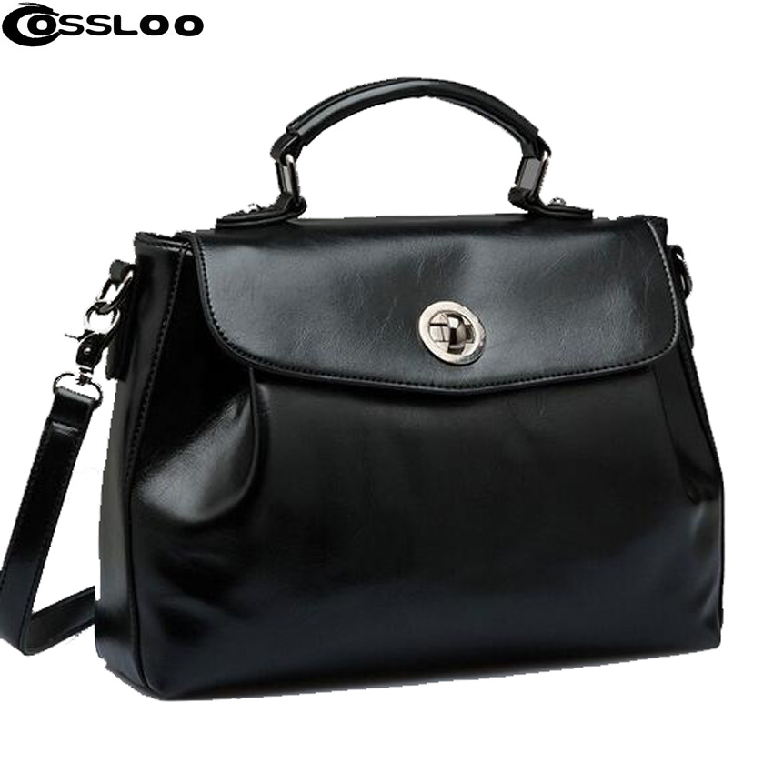 COSSLOO Popular womens handbag fashion casual handbags women messenger bags leather bag one shoulder big leather bags women