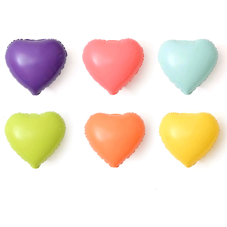Macaroon Foil Decoration Balloon  Round Shape Wedding Birthday Party Heart Star Happy D20