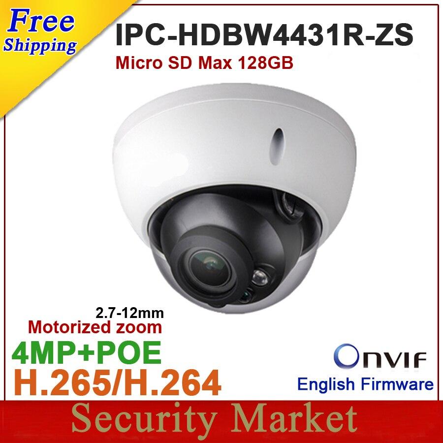 Wholesale dahua 4MP IPC HDBW4431R ZS upgraded by IPC HDBW4433R ZS IP 2 7mm 12mm VF