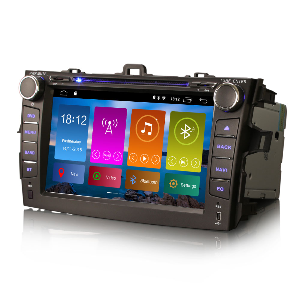 """8"""" Android 9.0 OS Car DVD Multimedia Navigation GPS Radio for Toyota Corolla 2007 2008 2009 2010 2011 with 3G/4G Dongle Support(China)"""