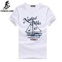 Pioneer Camp 2017 Fashion Print T Shirt Sailboat Men T Shirt Mens Short Sleeve T Shirt