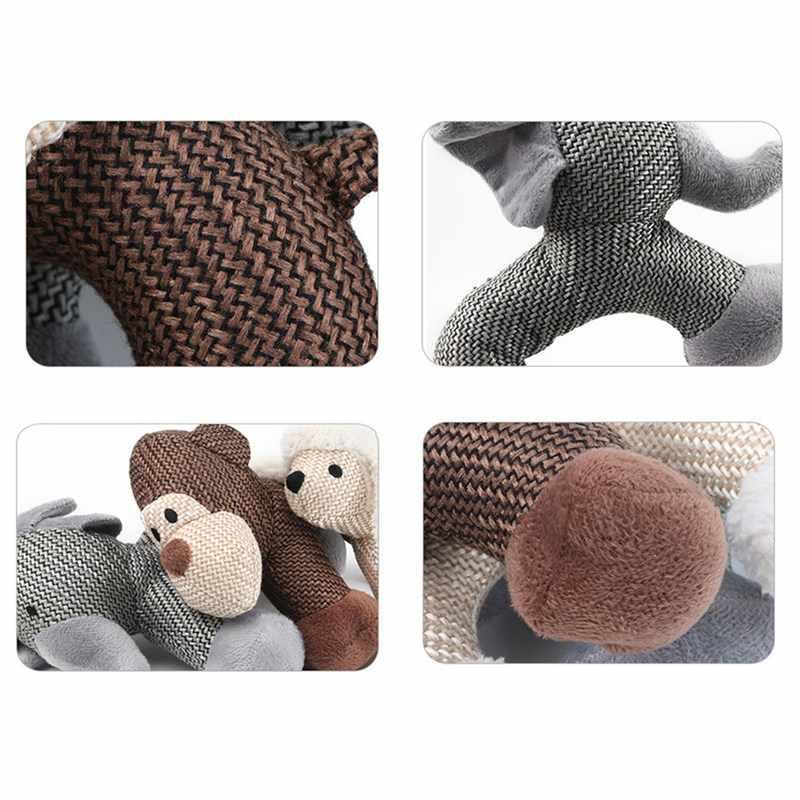 Плюшевые пискучие игрушки для домашних животных, укус собаки износостойкие жевательные игрушки, обезьяна/Слон/овечья Собака Продукция для питомцев