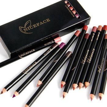 12pcs/set Matte Pencil Lip Liner Pencil Waterproof Pencils For Lips Long Lasting Lipliner Pen Makeup Cosmetic Tools D1