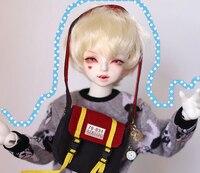 D01 P439 children handmade toy 1/6 1/4 1/3 Doll Accessories BJD/SD doll wig Golden boy baby cute short hair 1pcs
