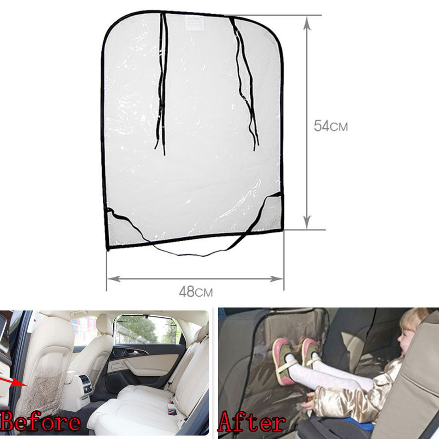 BBQ@FUKA 1pcs Car Auto Baby/Toddler Anti Kick Mat PVC Back Seat Anti-kick Protection Cover Liner Fit for Universal Cars