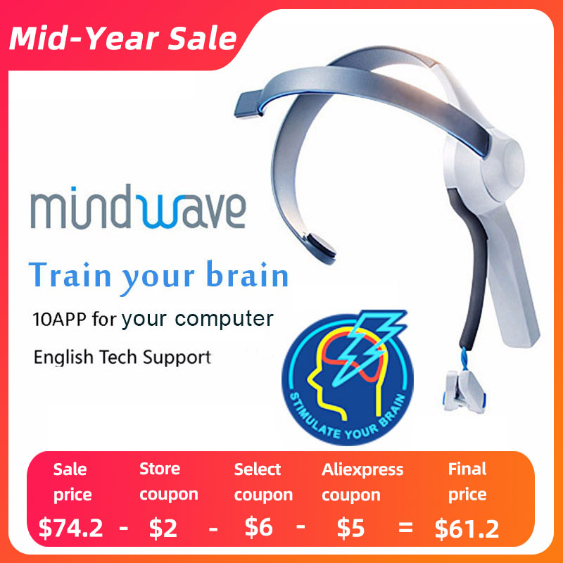 2019 Hot Sale Mindwave Headset Versão Internacional de Rf Controlador de Atenção E Meditação Neuro Feedback Eeg Eletrodo Seco
