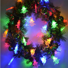 Free shipping 6M 40LED Wedding Party xmas Heart Shape Tree Festival String Fairy Lights Free Shipping Christmas light battery