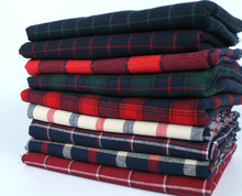 mylb Free shipping 145cm x50cm High quality cotton twill flannel cloth sanding soft fabric and yarn dyed Plaid Shirt cloth