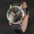 Design Da Marca de luxo de ouro caso Relógio de Fase Da Lua Mecânico Automático dos homens Clássico de diamante Pulseira De Couro Relógio com caixa de presente