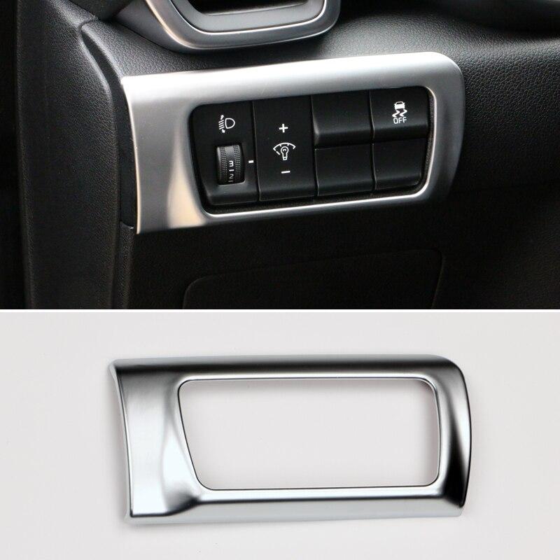 Para kia sportage 4 2016 2017 2018 2019 2020 abs cabeça do carro luz da lâmpada ajustar botão interruptor capa guarnição acessórios interiores