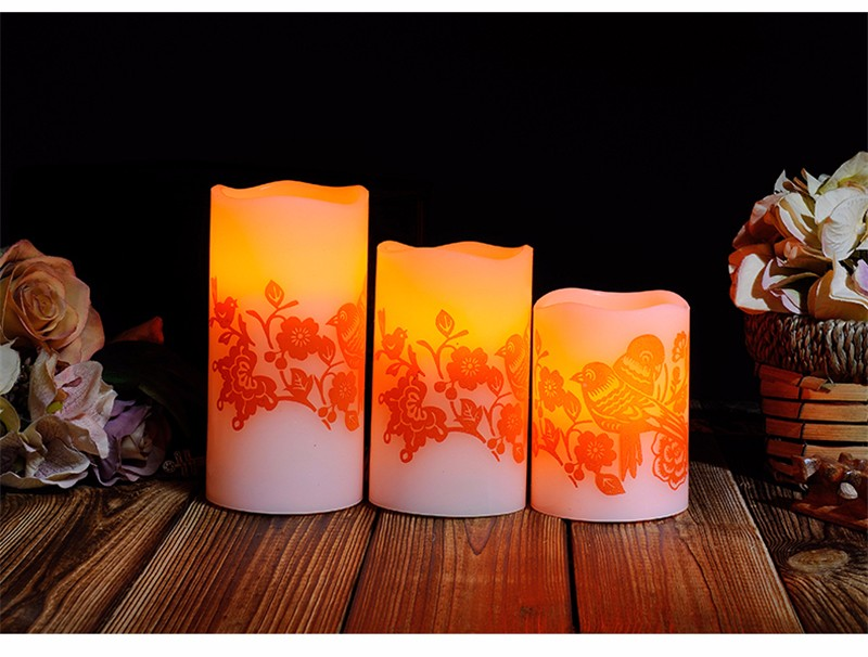 Led Electronic Candle Light Wedding Romantic Decoration Znicz Bougie D Coratives Wax Flameless Pillar Candles Home Decor DDZ281 17