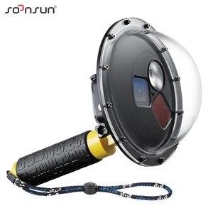 Image 1 - SOONSUN フィルター切替ドームポート防水ケースダイビング W/フロートの Gopro ヒーロー 5 6 7 移動プロ 7 アクセサリー