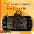 GPD Q9 7 POLEGADA Tela de Toque HD handheld video game construído em 2576 modelos de Jogos Internos mais software de reprodução de vídeo 2 GB + 16 GB