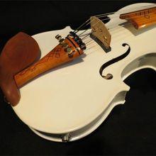 Ручная работа лучшая модель акустическая скрипка o Белый цвет 5 струн 4/4 Электрическая Скрипка чехол бант канифоль