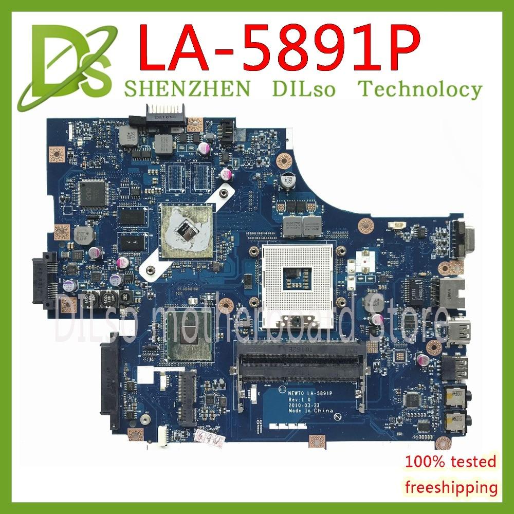 KEFU LA-5892P motherboard for Acer 5741 5741G 5742 5742G LA-5891P motherboard MBR5402001 HM55 Test work 100% original motherboard for acer aspire 5741 5741g mb ptd02 001 mbptd02001 new71 l01 new71 la 5893p 100