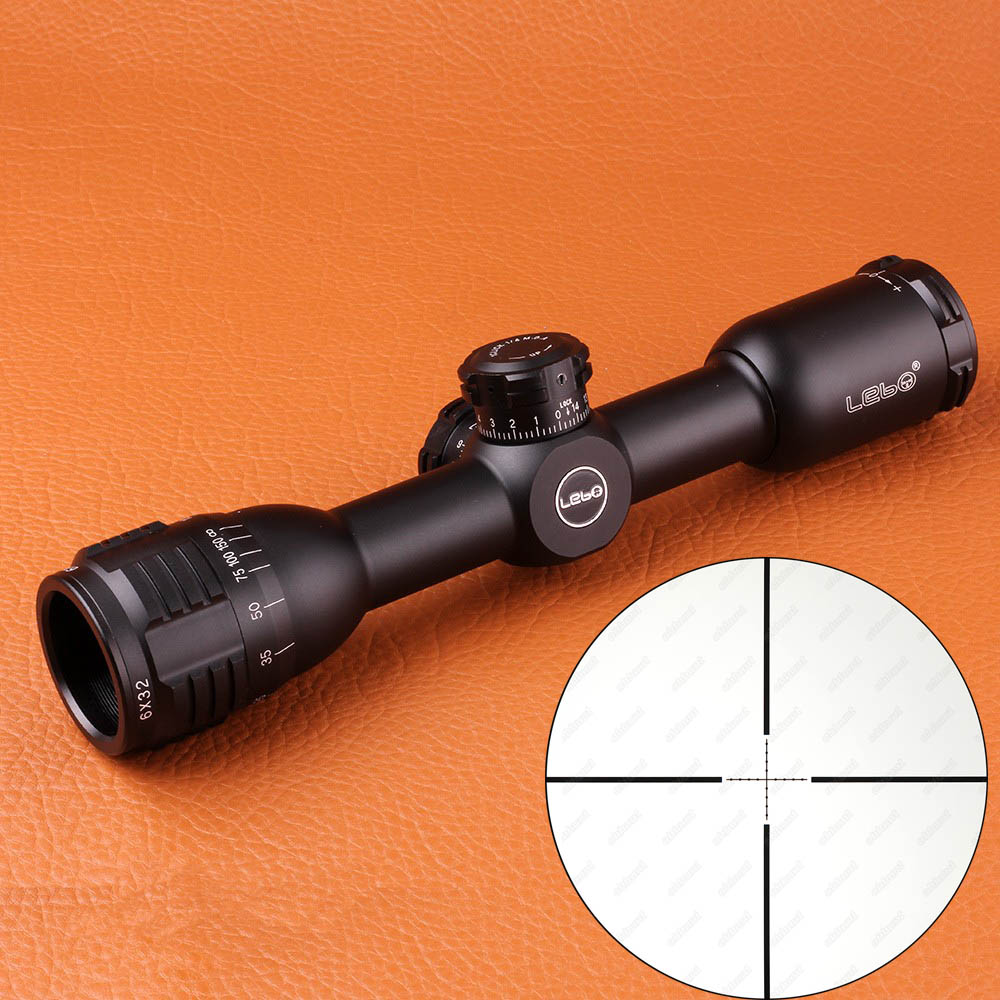 LEBO 6X32AO Compact Tactical Riflescope Glass Etched Reticle Rifle Scope High Quality Hunting Optical Sights for Rifle Airsoft high quality 6 25x56sff side foucs rifle scope pp1 0202