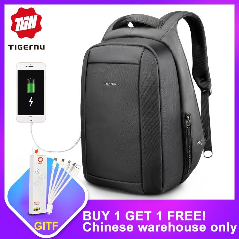80068417 Tanie Tigernu wodoodporna Anti Theft mężczyzna Mochila 15.6 cal laptopa  plecak mężczyźni USB plecaki torby szkolne plecak dla nastolatków torba  podróżna ...