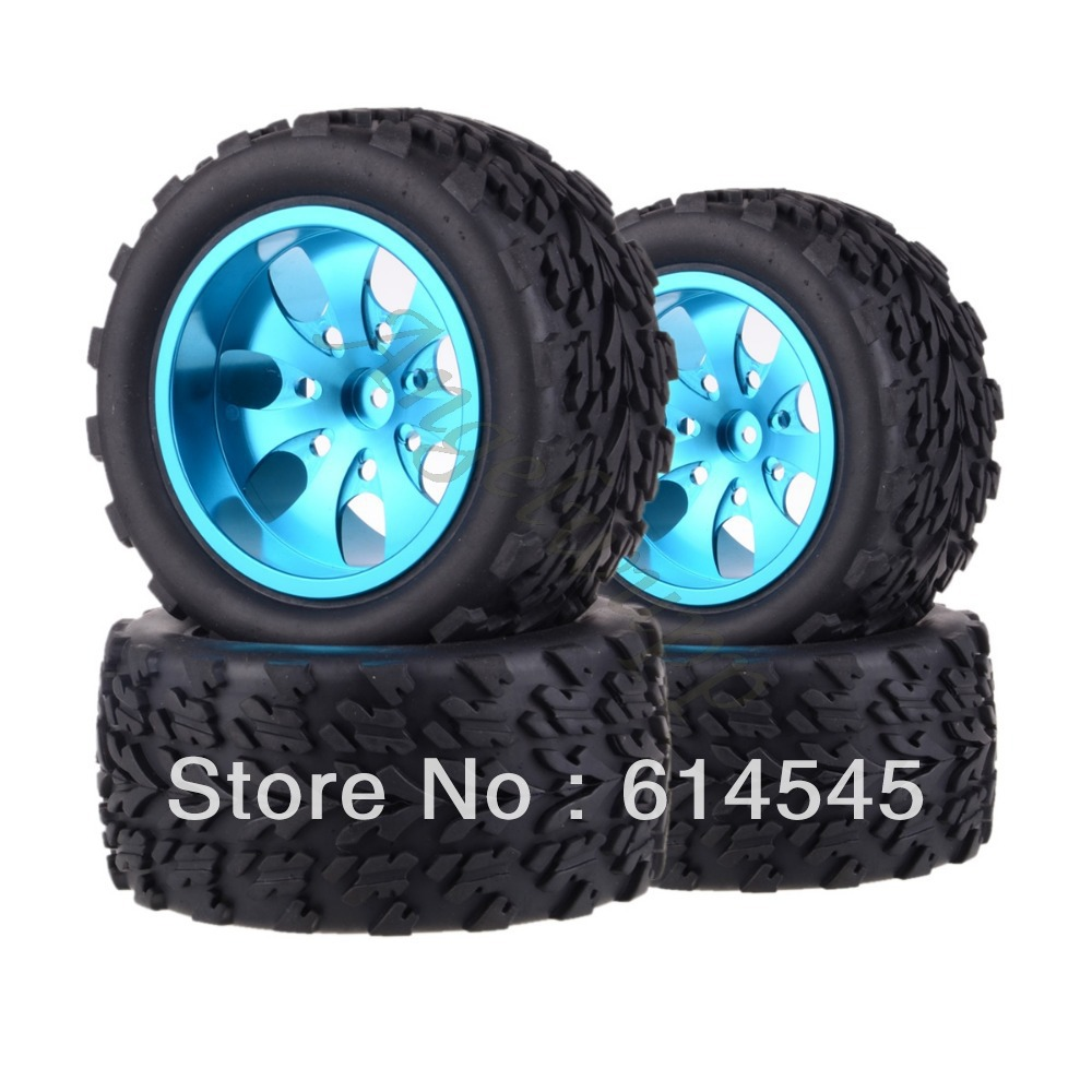 4xRC Monster Truck Bigfoot Metal 1:10 Wheel Rim & Tyre Tires 12MM HEX 88116 tcbworth 14 8v 5000mah 30c 4s rc airplane lipo battery for rc quadrotor helicopter akku drone car truck li ion battery