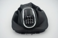 Free Shipping New 5 Speed Car Gear Shift Knob With Black Boot For Skoda Fabia 2000