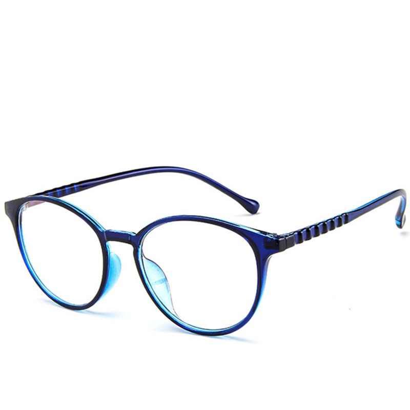 05f3de221f9 DIDI Korea Computer Student Glasses Women Men Round Oval Eye Glasses  Transparent Clear Flat Lens Myopia