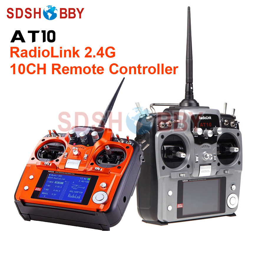 RadioLink AT10 2.4G 10CH Remote Controller Transmitter Radio System Including R10D Receiver radiolink at10 2 4g 10ch transmitter with r10d receiver
