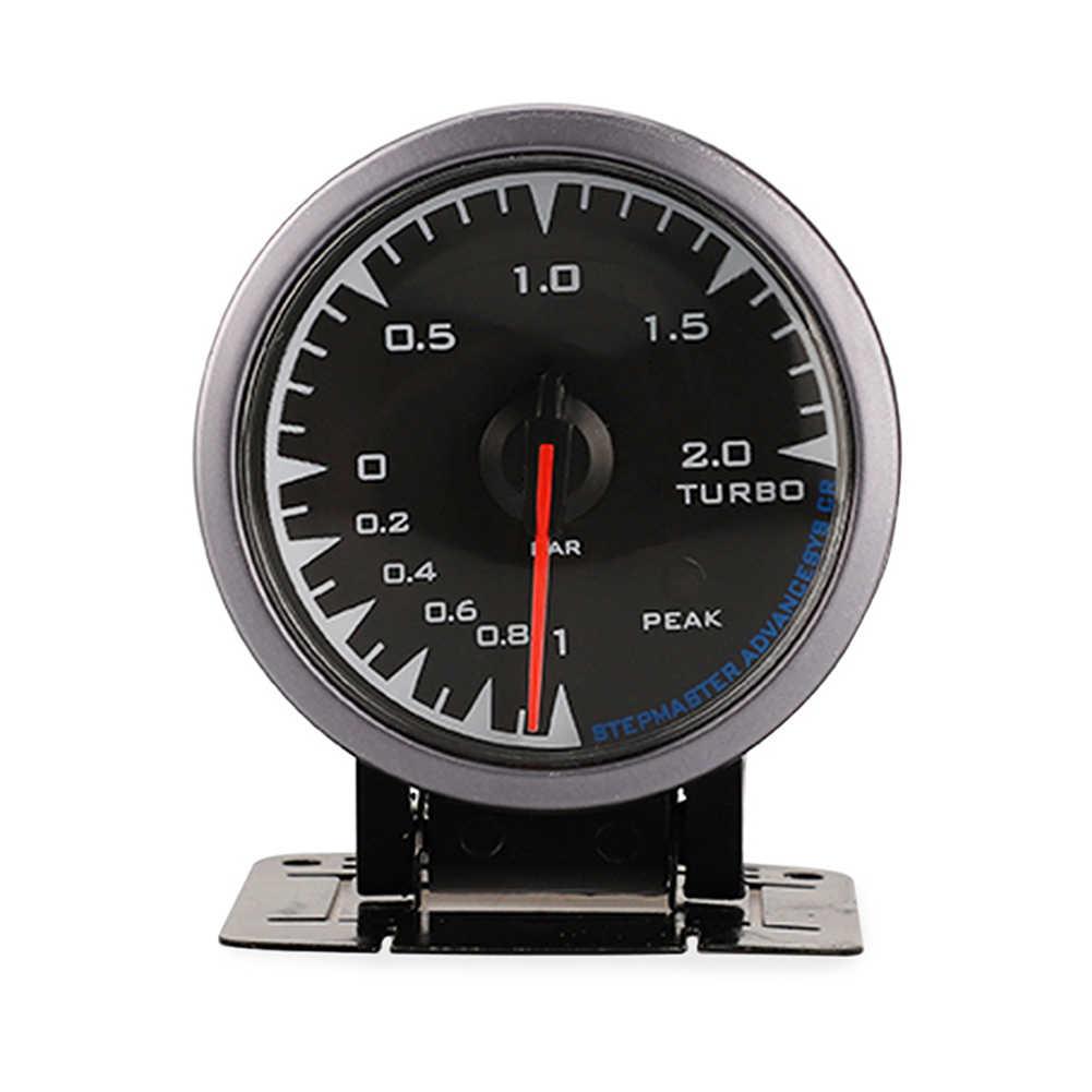 سيارة توربو دفعة متر مقياس 2.5 بوصة 60 مللي متر 7 لون ضوء دائم ل 12 فولت مركبة CSL88